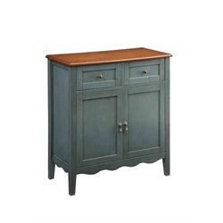Coaster 2 Drawer Sideboard in Cherry and Blue