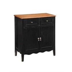 Coaster 2 Drawer Sideboard in Cherry and Black