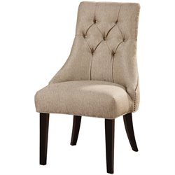 Coaster Tufted Dining Chair in Sand