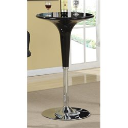 Coaster Adjustable Pub Table in Black