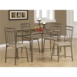 Coaster Dinettes 5 Piece Dining Set in Tan and Black