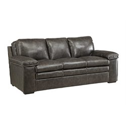 Coaster Regalvale Leather Sofa in Two Tone Charcoal