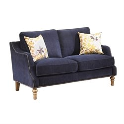 Coaster Vessot Loveseat in Blue