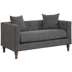 Coaster Ellery Loveseat in Gray