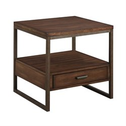 Coaster 1 Drawer End Table in Light Brown
