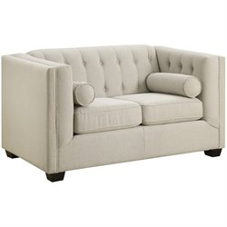 Coaster Cairns Loveseat in Oatmeal