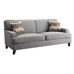 Coaster Finley Upholstered Sofa in Cement