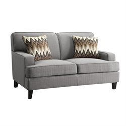 Coaster Finley Loveseat in Cement