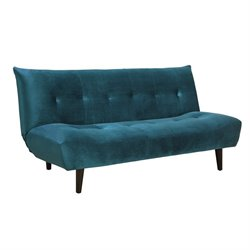Coaster Upholstered Sleeper Sofa in Green