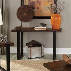 Coaster Two Tone Console Table in Vintage Brown and Black