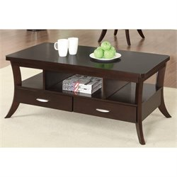 Coaster Occasional Group 2 Drawer Coffee Table in Espresso