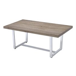 Coaster Coffee Table with U Shape Base in Weathered Taupe