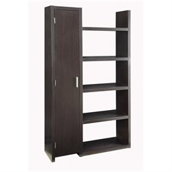 Coaster 5 Shelf Bookcase with Storage in Cappuccino