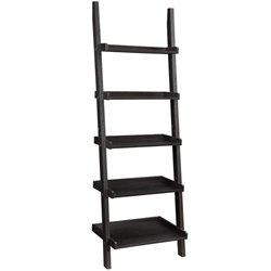 Coaster 5 Shelf Ladder Bookcase in Cappuccino