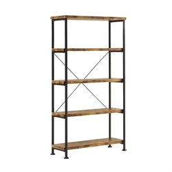 Coaster Barritt 4 Shelf Bookcase in Antique Nutmeg