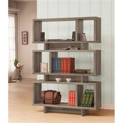 Coaster Contemporary Bookcase in Dark Gray