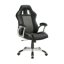 Coaster Air Ventilation Office Chair in Black and Gray