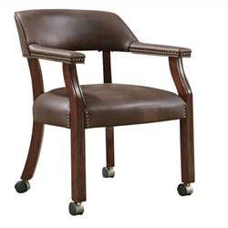 Coaster Traditional Office Chair with Nailhead Trim in Brown