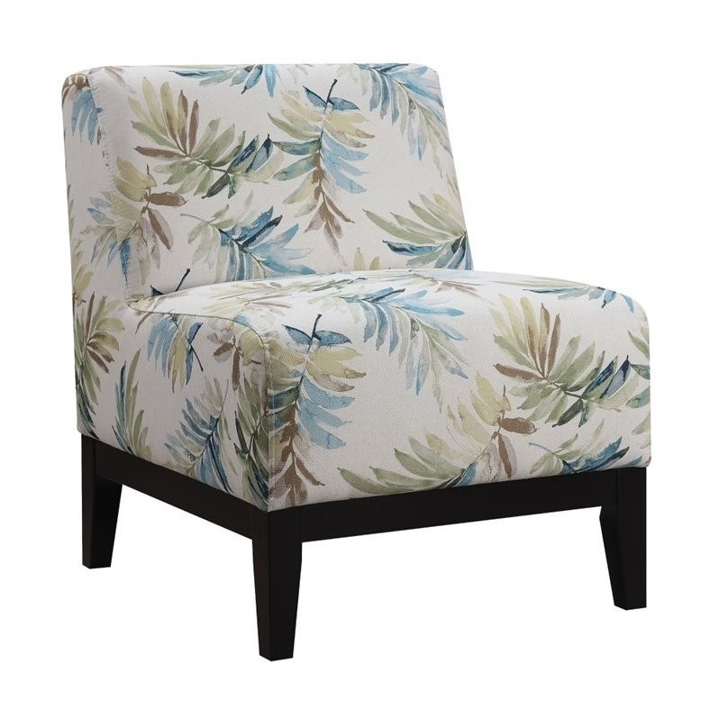 Coaster Upholstered Accent Chair In Blue And Green 902614