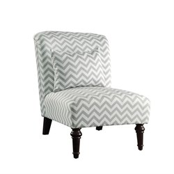Coaster Accent Chair with Pillow in Gray and White