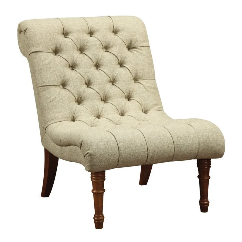 Coaster tufted accent chair in mossy green 902218 Tufted accent chair