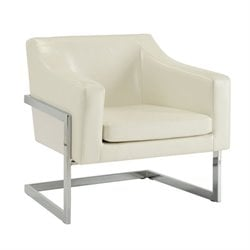 Coaster Contemporary Accent Chair with Metal Frame