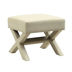 Coaster Upholstered X Shaped Base Ottoman