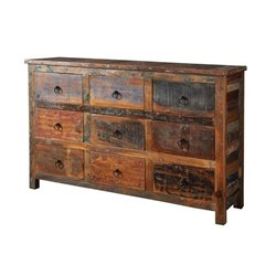 Coaster 9 Drawer Sideboard in Reclaimed Wood