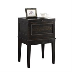 Coaster Lift Top End Table in Antique Black