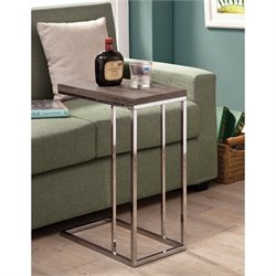 Coaster End Table in Weathered Gray