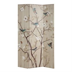 Coaster 3 Panel Bird Floding Folding Screen