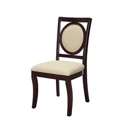 Coaster Crest Hill Dining Chair in Ivory and Cherry