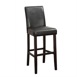 Coaster Upholstered Counter Stool in Walnut