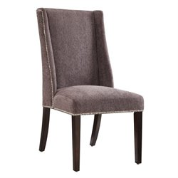 Coaster Wing Back Dining Chair in Gray and Espresso
