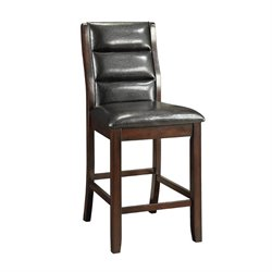 Coaster Lacombe Faux Leather Chair in Black and Cappuccino