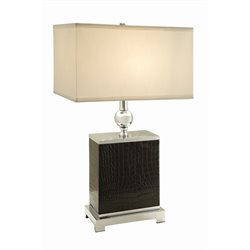 Coaster Table Lamp in White and Black