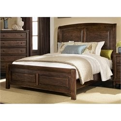 Coaster Laughton Sleigh Bed in Cocoa Brown