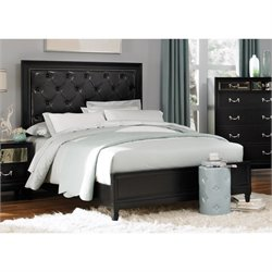 Coaster Devine Button Tufted Bed in Black