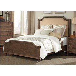 Coaster Dalgarno Upholstered Bed in Light Brown