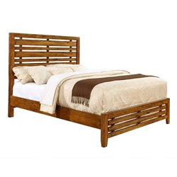 Coaster Cupertino Slat Bed in Antique Amber