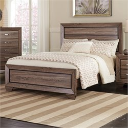 Coaster Kauffman Panel Bed in Washed Taupe