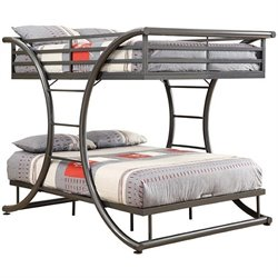 Coaster Stephan Full over Full Bunk Bed in Gunmetal