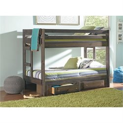 Coaster Wrangle Hill Twin over Twin Bunk Bed with Storage Drawers