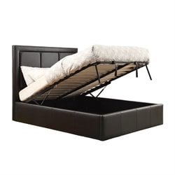Coaster Upholstered Storage Bed in Black 300493
