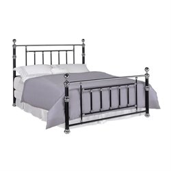 Coaster Poster Bed in Black and Chrome 300410