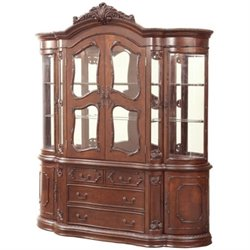 Coaster Jacques European China Cabinet in Dark Cherry