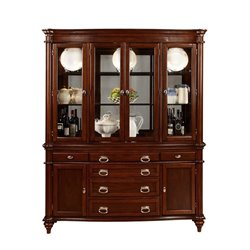 Coaster Alyssa 6 Door 6 Drawer 3 Shelf Buffet with Hutch in Cognac