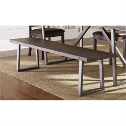 Coaster Genoa Dining Bench in Wire Brushed Cocoa