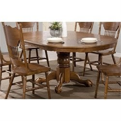 Coaster Brooks Oval Dining Table in Medium Oak