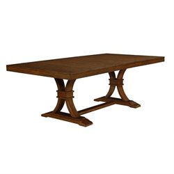 Coaster Abrams Dining Table with Leaf in Truffle